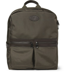 Mulberry Henry Leather-Trimmed Nylon Backpack