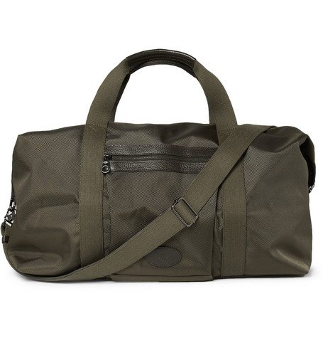 Mulberry Henry Leather-Trimmed Nylon Holdall Bag