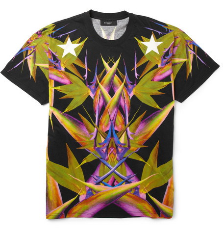 Givenchy Paradise-Print Cotton-Jersey T-Shirt
