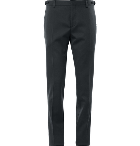 Burberry London Navy Slim-Fit Wool Tuxedo Trousers