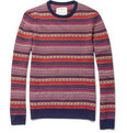 Aubin & Wills Patterned Wool Crew Neck Sweater