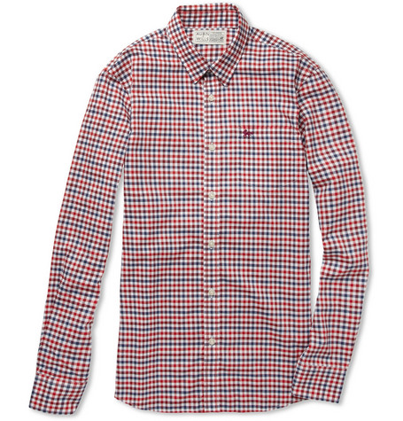 Aubin & Wills Eardson Slim-Fit Check Cotton Shirt
