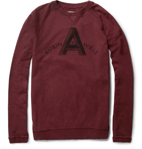 Aubin & Wills Heugh Printed Cotton-Jersey Sweatshirt
