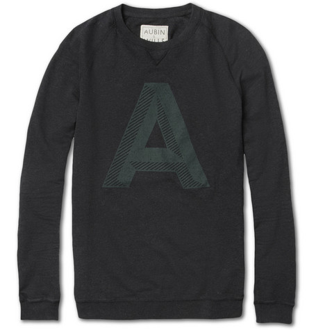 Aubin & Wills Heugh Printed Lightweight Cotton Sweatshirt