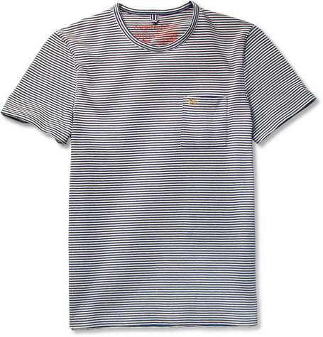 Aubin & Wills Striped Cotton Crew Neck T-Shirt