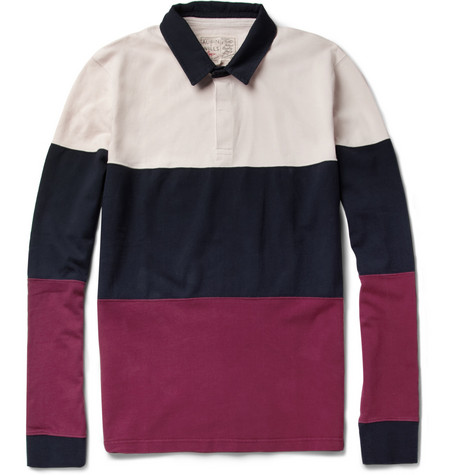 Aubin & Wills Rutherglan Striped Cotton Rugby Shirt
