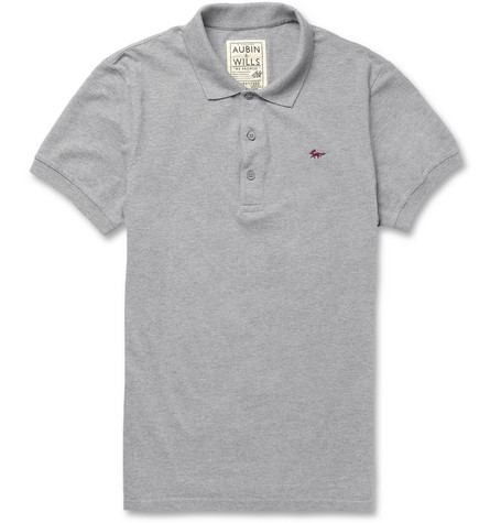 Aubin & Wills Waterstone Cotton-Piqué Polo Shirt