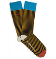 Aubin & Wills Striped Cotton-Blend Socks