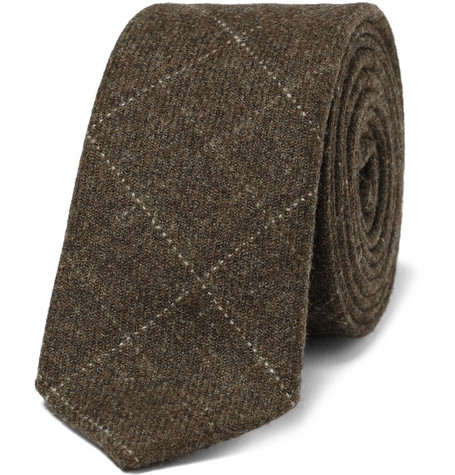 Aubin & Wills Plaid Wool-Felt Tie