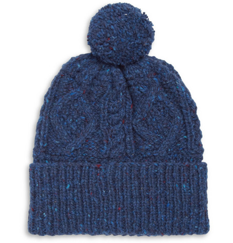 Richard James Hand-Knitted Wool Beanie Hat