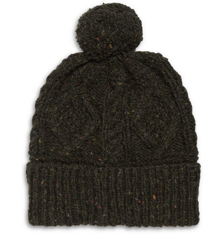 Richard James Hand-Knitted Wool Beanie Bobble Hat