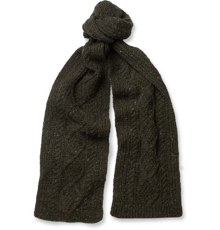 Richard James Hand-Knitted Wool and Cashmere-Blend Scarf