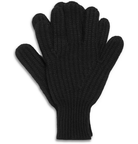 Richard James Ribbed Cashmere Gloves