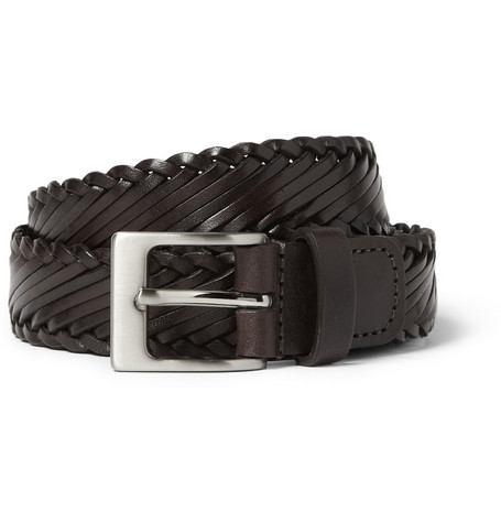 Richard James Woven-Leather Belt