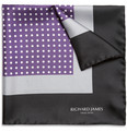 Richard James - Polka-Dot Silk Pocket Square
