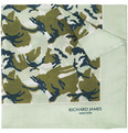 Richard James Camouflage-Print Cotton Pocket Square