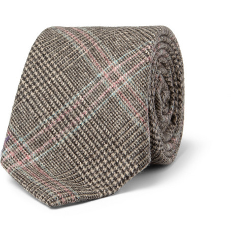 Richard James Check Wool Tie