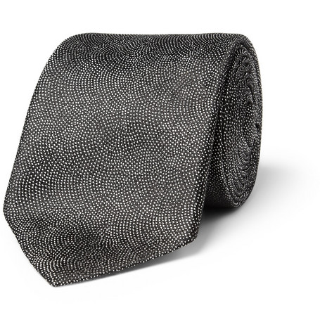 Richard James Pin Dot Woven-Silk Tie