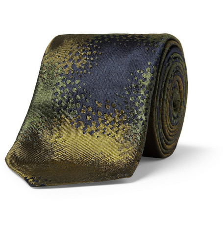Richard James Camouflage Woven Silk Tie