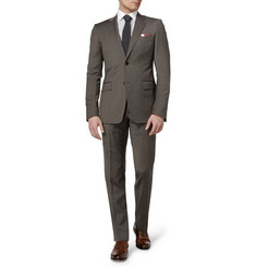 Gucci Grey Brera Slim-Fit Wool Suit