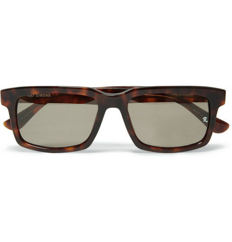 Raf Simons Rectangular Acetate Sunglasses