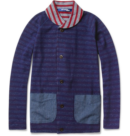 Junya Watanabe Striped Lightweight Wool and Cotton-Blend Jacket