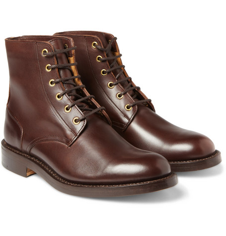 Junya Watanabe Tricker's Leather Lace-Up Boots