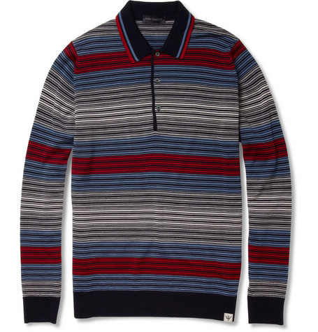 John Smedley Arnewood Long-Sleeved Wool Polo Shirt