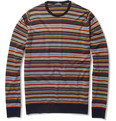 John Smedley - Biker Striped Wool Sweater