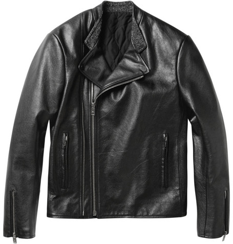 Balenciaga Perfecto Slim-Fit Leather Biker Jacket