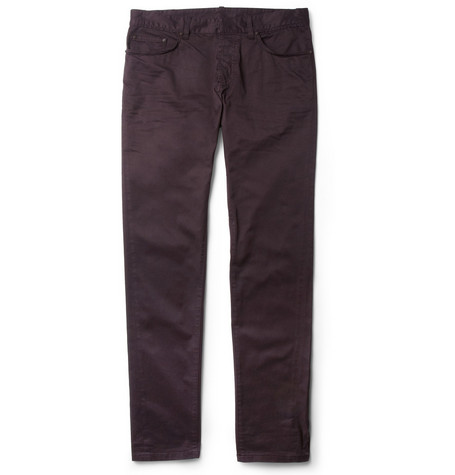 Balenciaga Slim-Fit Cotton-Blend Trousers