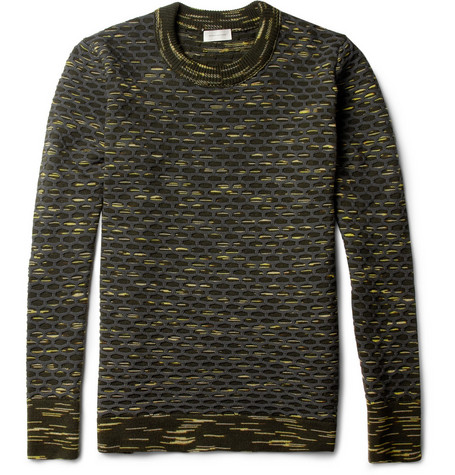 Balenciaga Textured Wool-Blend Sweater
