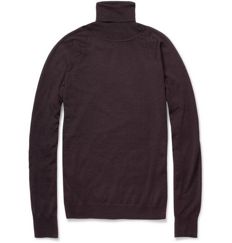 Balenciaga Wool and Silk-Blend Rollneck Sweater