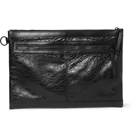 Balenciaga Creased-Leather Pouch
