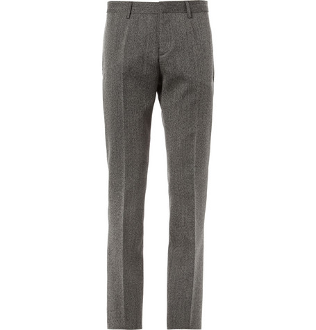Burberry Prorsum Herringbone Worsted-Wool Suit Trousers