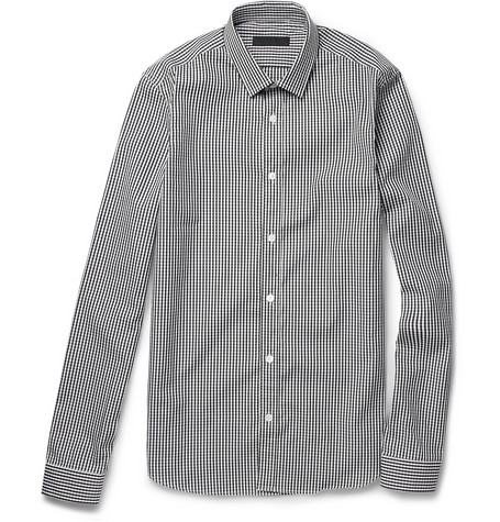 Burberry Prorsum Gingham Check Cotton Shirt
