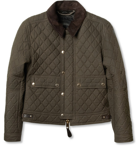 Burberry Prorsum Quilted Waxed-Cotton Cropped Jacket