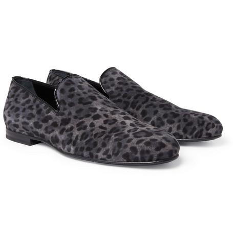 Jimmy ChooSloane Leopard-Print Suede Slippers