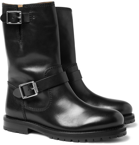 Jimmy Choo York Leather Biker Boots