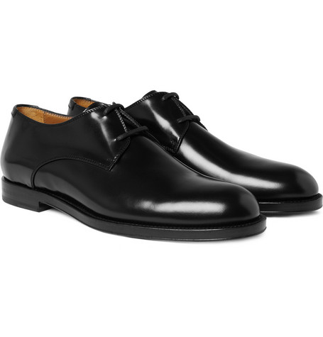 Jimmy Choo Mayfair High-Shine Leather Derby Shoes