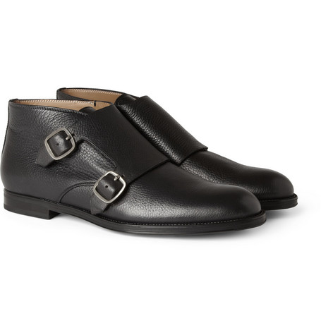 Jimmy Choo St James Leather Monk-Strap Shoes