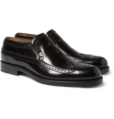 Jimmy Choo Cromwell High-Shine Leather Brogue Loafers