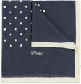 Drake's Polka-Dot Wool-Blend Pocket Square