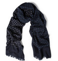 Drake's - Polka-Dot Wool and Silk-Blend Scarf
