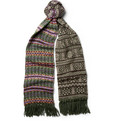 Drake's Patchwork Fair Isle Lambswool Scarf