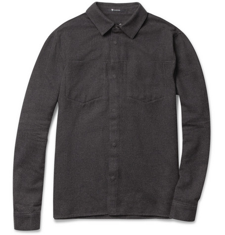 Alexander Wang Pocket-Front Cotton-Flannel Shirt