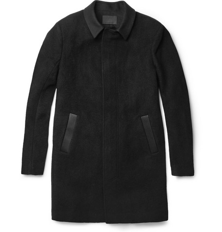 Alexander Wang Twill-Trimmed Wool-Blend Coat