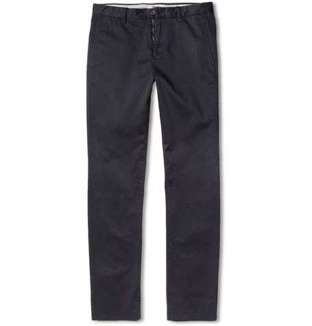 Acne Roc Satin Slim-Fit Cotton-Blend Trousers