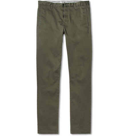Acne Studios Roc Satin Slim-Fit Cotton-Blend Trousers