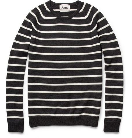 Acne Sagan Striped Wool Sweater